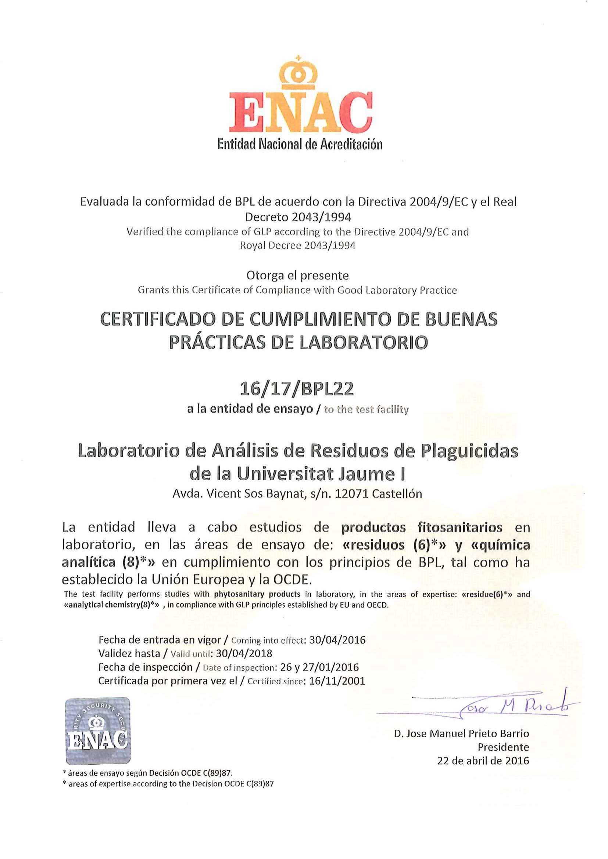 Certificado LARP