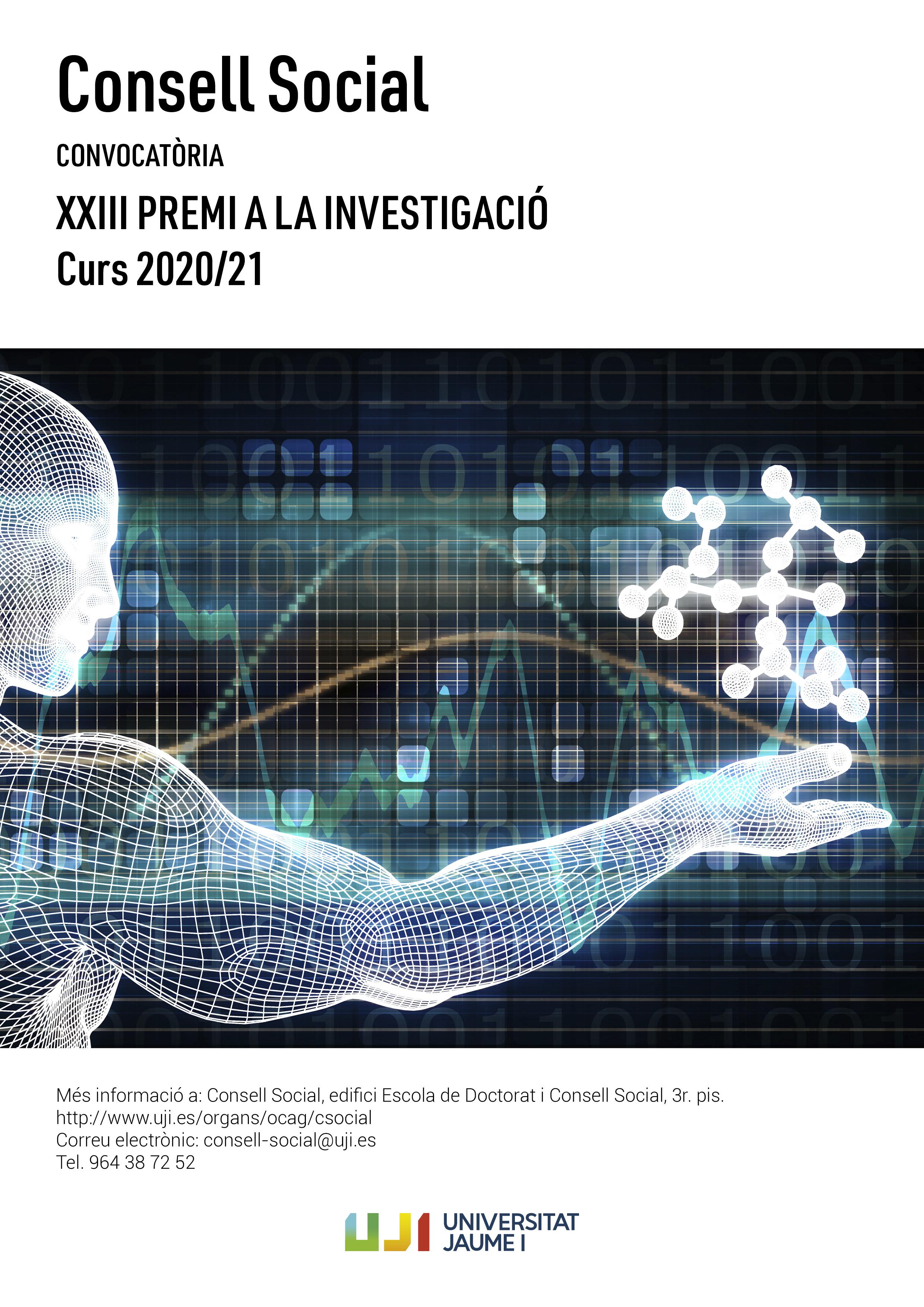 Cartell del XXIII Premi del Consell Social a la Investigació 2021