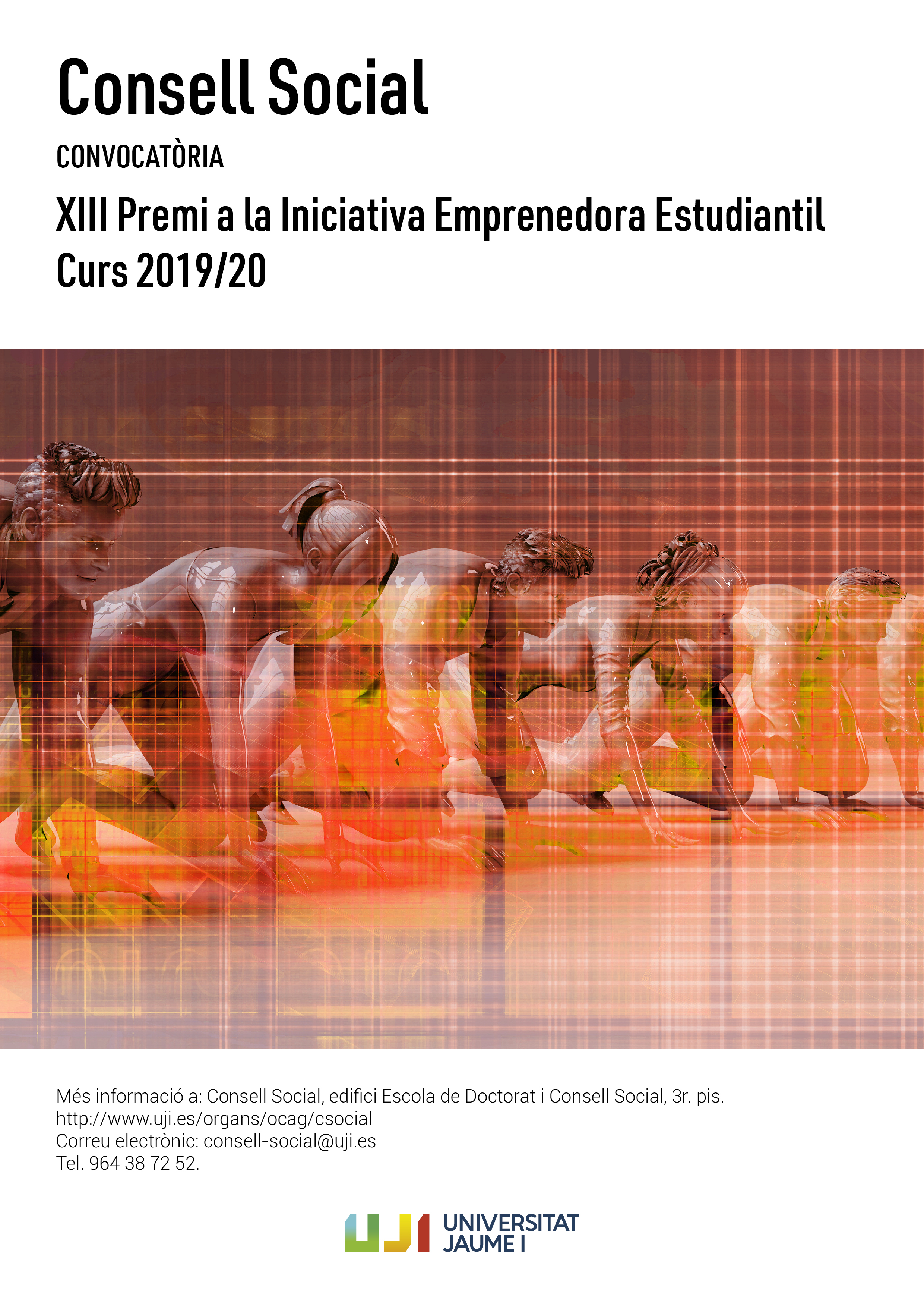 Cartell del XIII Premi del Consell Social a la Iniciativa Emprenedora Estudiantil 2020