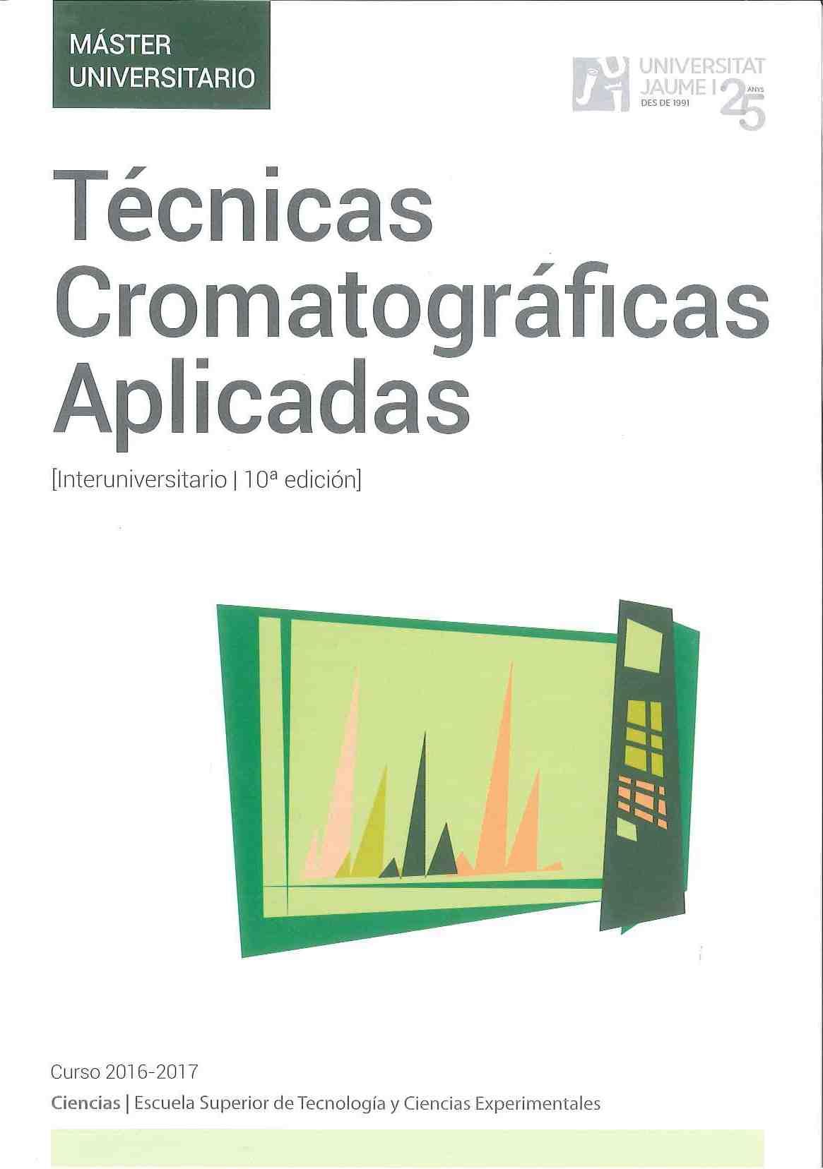Màster Interuniversitari en Tècniques Cromatogràfiques Aplicades