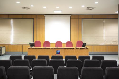Sala de grados de la Facultad de Ciencias Jurídicas y Económicas de la UJI